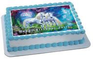 Unicorn - Edible Cake Topper OR Cupcake Topper, Decor