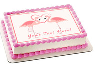 Pink Flamingos - Edible Cake Topper OR Cupcake Topper, Decor