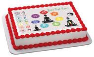 Chakra - Edible Cake Topper OR Cupcake Topper, Decor