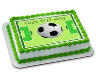 SOCCER BALL - Edible Cake Topper OR Cupcake Topper, Decor