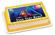 Disco Girl - Edible Cake Topper OR Cupcake Topper, Decor
