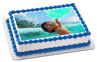 Baby Moana - Edible Cake Topper OR Cupcake Topper, Decor