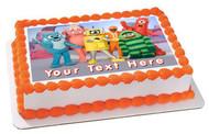 YO GABBA GABBA - Edible Cake Topper OR Cupcake Topper, Decor