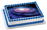 Space - Edible Cake Topper OR Cupcake Topper, Decor