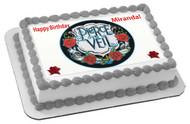 PIERCE THE VEIL Edible Birthday Cake Topper OR Cupcake Topper, Decor