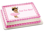 Baby Girl Afro Puffs - Edible Cake Topper OR Cupcake Topper, Decor