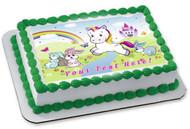 Wonderful Unikorn - Edible Cake Topper OR Cupcake Topper, Decor