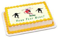 Skateboard Girl - Edible Cake Topper OR Cupcake Topper, Decor