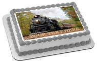 Train (Nr1) - Edible Cake Topper OR Cupcake Topper, Decor