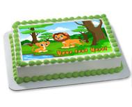 Baby Lion - Edible Cake Topper OR Cupcake Topper, Decor