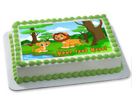 Baby Lion - Edible Cake Topper OR Cupcake Topper, Decor