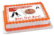 Basketball - Edible Cake Topper OR Cupcake Topper, Decor