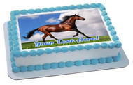 Brown Horse - Edible Cake Topper OR Cupcake Topper, Decor