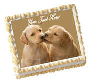 Puppy Kiss - Edible Cake Topper OR Cupcake Topper, Decor