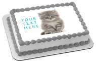 Kitten Cat (Nr2) - Edible Cake Topper OR Cupcake Topper, Decor