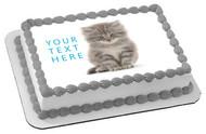 Kitten Cat (Nr2) - Edible Cake Topper OR Cupcake Topper, Decor