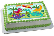 Cute dinosaurs - Edible Cake Topper OR Cupcake Topper, Decor