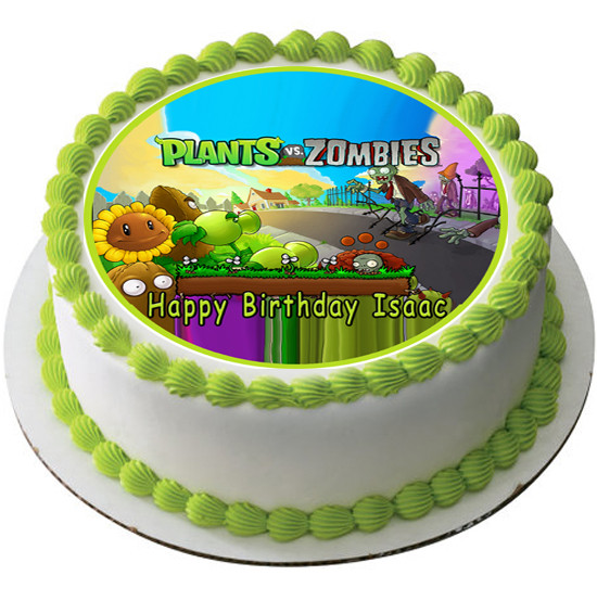 PLANTS Vs ZOMBIES 2 Edible Birthday Cake Topper OR Cupcake Decor