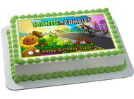PLANTS vs ZOMBIES 2 Edible Birthday Cake Topper OR Cupcake Topper, Decor