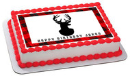 Deer Head - Edible Cake Topper OR Cupcake Topper, Decor