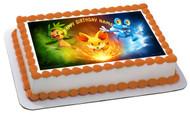 POKEMON 1 Edible Birthday Cake Topper OR Cupcake Topper, Decor