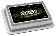 New Year (Nr3) - Edible Cake Topper OR Cupcake Topper, Decor