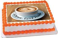 Heart Latte Art - Edible Cake Topper OR Cupcake Topper, Decor
