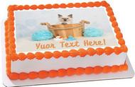 Cute rag doll kitten cat - Edible Cake Topper OR Cupcake Topper, Decor