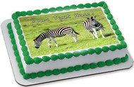 Zebra - Edible Cake Topper OR Cupcake Topper, Decor