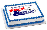 Rock & Roll - Edible Cake Topper OR Cupcake Topper, Decor