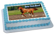 Brown Horse (Nr2) - Edible Cake Topper OR Cupcake Topper, Decor