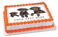 Dog Family - Edible Cake Topper OR Cupcake Topper, Decor