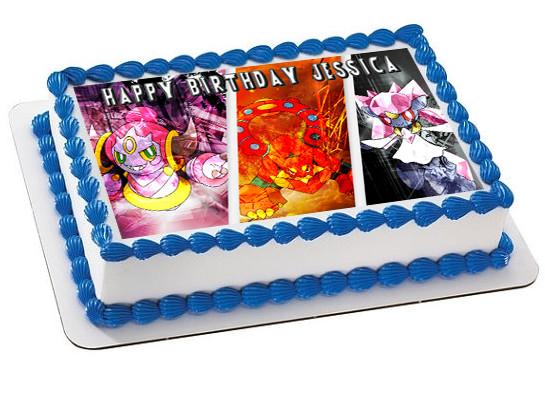 Terrific Pokemon 3 Edible Birthday Cake Topper Funny Birthday Cards Online Eattedamsfinfo