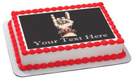Rock & roll hand - Edible Cake Topper OR Cupcake Topper, Decor