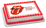 Rolling Stones Tongue Logo - Edible Cake Topper OR Cupcake Topper, Decor