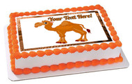 Cute Funny Camel - Edible Cake Topper OR Cupcake Topper, Decor