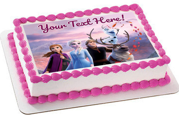 Magnificent Frozen Ii Nr2 Edible Birthday Cake Topper Funny Birthday Cards Online Fluifree Goldxyz