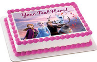 Frozen II (Nr2) - Edible Cake Topper OR Cupcake Topper, Decor