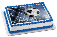 Soccer Ball (Nr2) - Edible Cake Topper OR Cupcake Topper, Decor