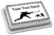 Hockey Players - Edible Cake Topper OR Cupcake Topper, Decor