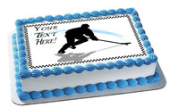Hockey Player (Nr2) - Edible Cake Topper OR Cupcake Topper, Decor