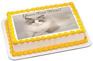Rag Doll Cat - Edible Cake Topper OR Cupcake Topper, Decor