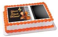 Music Instruments - Edible Cake Topper OR Cupcake Topper, Decor