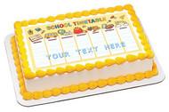 School Timetable - Edible Cake Topper OR Cupcake Topper, Decor