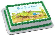 Farm With Farm Animals - Edible Cake Topper OR Cupcake Topper, Decor