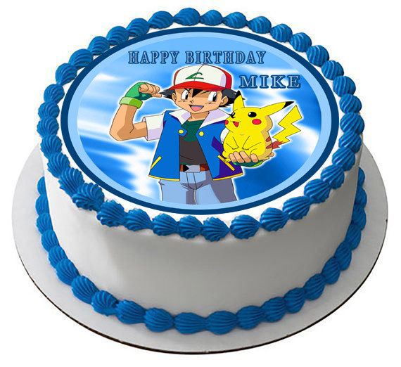 Tremendous Pokemon Pikachu Edible Birthday Cake Topper Funny Birthday Cards Online Eattedamsfinfo