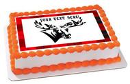 Moose - Edible Cake Topper OR Cupcake Topper, Decor