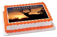 Moose (Nr2) - Edible Cake Topper OR Cupcake Topper, Decor