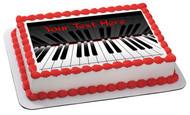 Piano keys (Nr2) - Edible Cake Topper OR Cupcake Topper, Decor