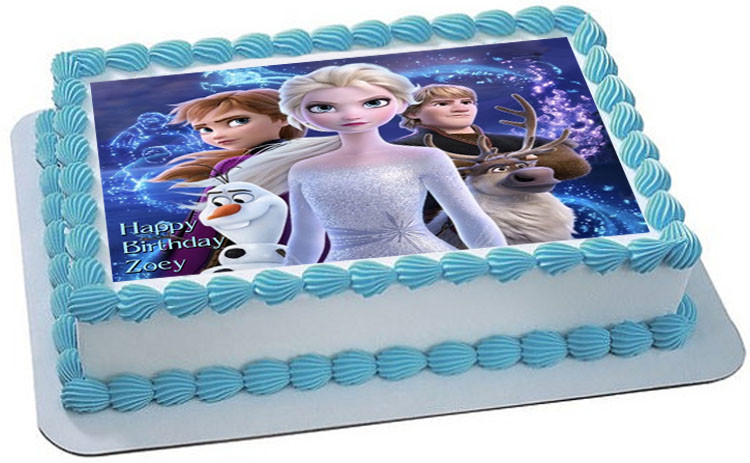 Fine Frozen Ii Edible Birthday Cake Topper Funny Birthday Cards Online Elaedamsfinfo